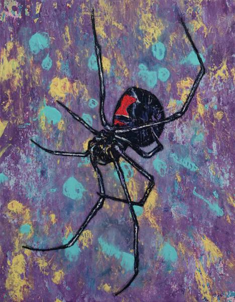 Halloween Painting - Black Widow by Michael Creese