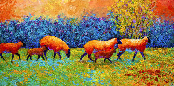 Wall Art - Painting - Blackberries And Sheep II by Marion Rose