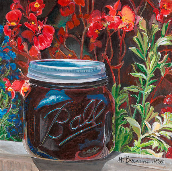 Holly Brannan Wall Art - Painting - Blackberry Preserves by Holly Bartlett Brannan
