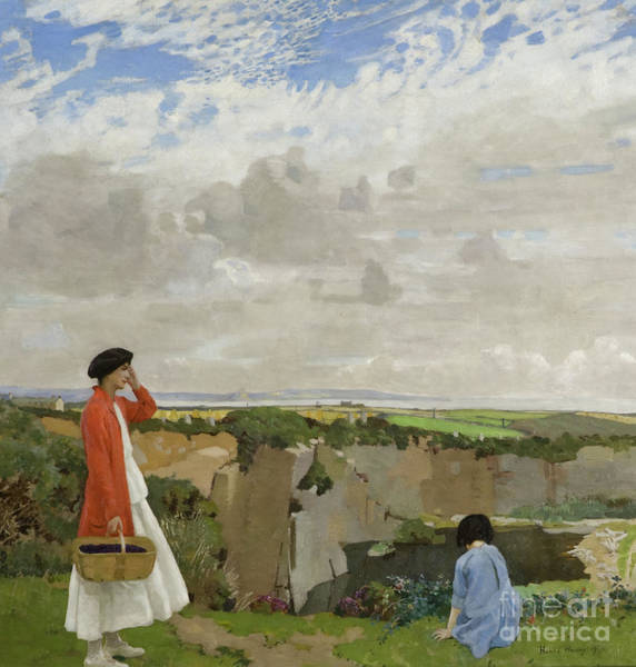 Wall Art - Painting - Blackberrying Or The Quarry by Harold Harvey
