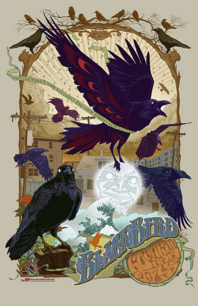 Raven Digital Art - Blackbird 1 by Nelson Garcia