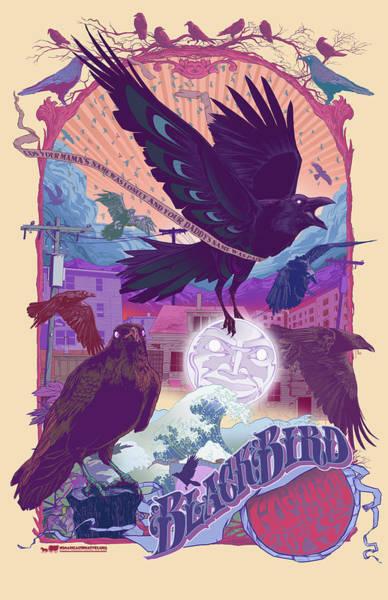 Digital Art - Blackbird 2 by Nelson Garcia
