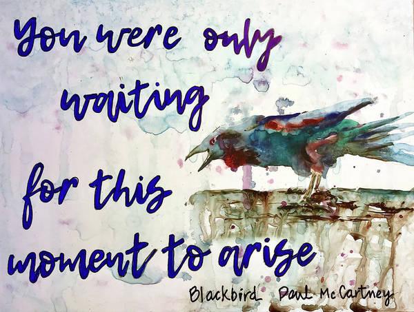 Painting - Blackbird by Diane Fujimoto
