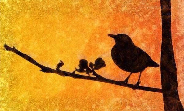 Lurksart Painting - Blackbird - Id 16236-104955-0249 by S Lurk