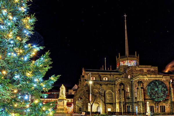 Christmass Photograph - Blackburn Cathedral Quarter During Christmas by Shafiq Khan