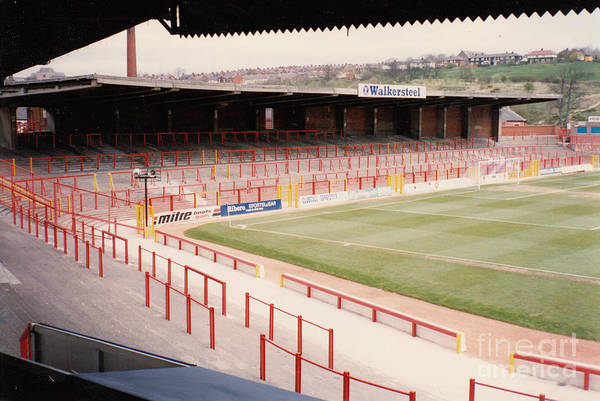 Wall Art - Photograph - Blackburn - Ewood Park - North Stand Town End 1 - April 1991 by Legendary Football Grounds