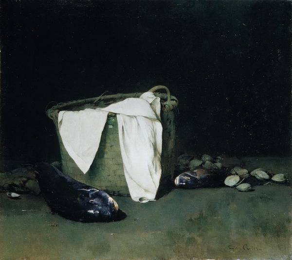 Blackfish Painting - Blackfish And Clams by Emil Carlsen