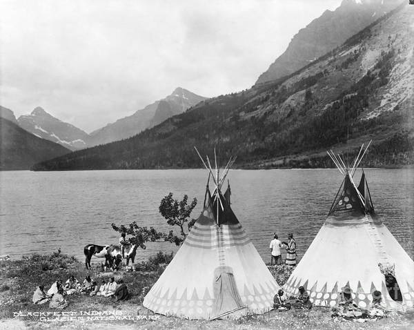 Photograph - Blackfoot Encampment.  by Granger