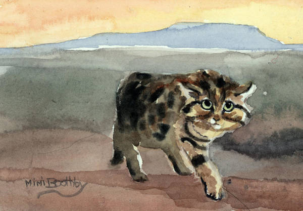 Painting - Blackfooted Cat by Mimi Boothby