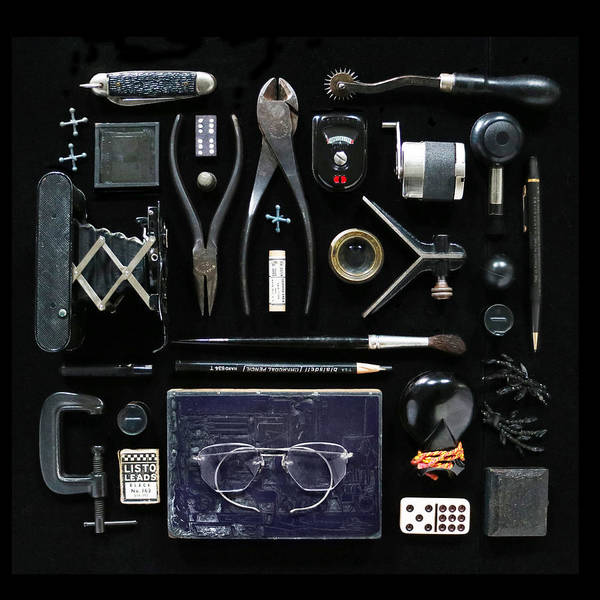 Photograph - Black Flatlay Friday by Deborah J Humphries