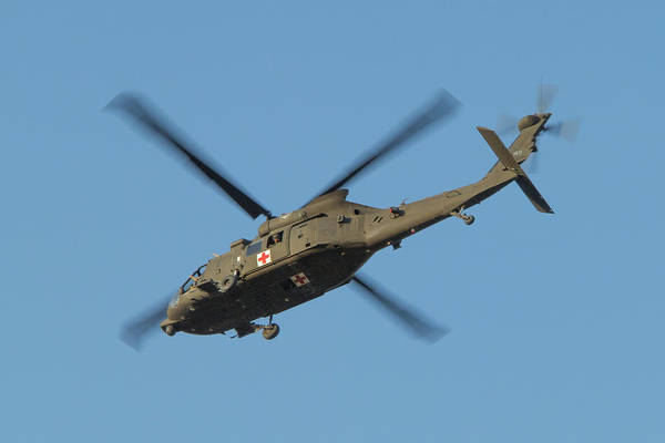 Photograph - Blackhawk Medevac In Flight by SR Green