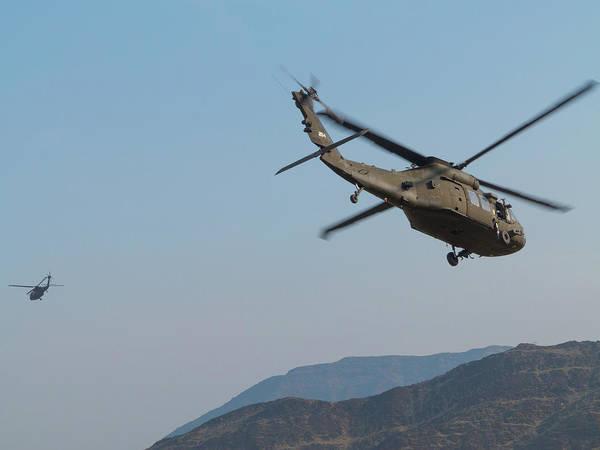 Photograph - Blackhawks In Flight by SR Green