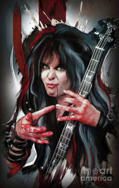 Wall Art - Painting - Blackie Lawless 2 by Melanie D
