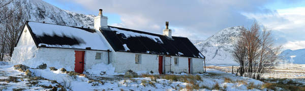 Photograph - Blackrock Cottage In Winter - Panorama by Maria Gaellman