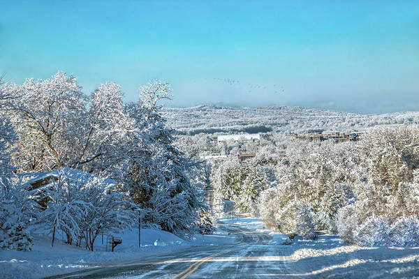 Wall Art - Photograph - Blacksburg Elegant Country Snow Near Virginia Tech by Betsy Knapp