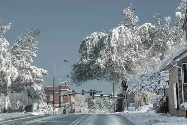 Wall Art - Photograph - Blacksburg Virginia Main Street Sunday Snow 2 by Betsy Knapp