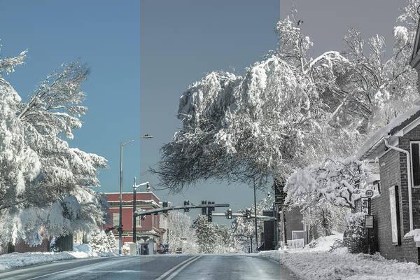 Wall Art - Photograph - Blacksburg Virginia Main Street Sunday Snow 4 by Betsy Knapp
