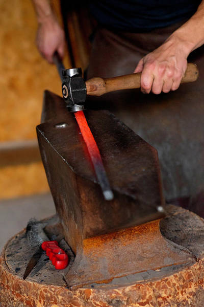 Photograph - Blacksmith And Hammer by Jean Gill