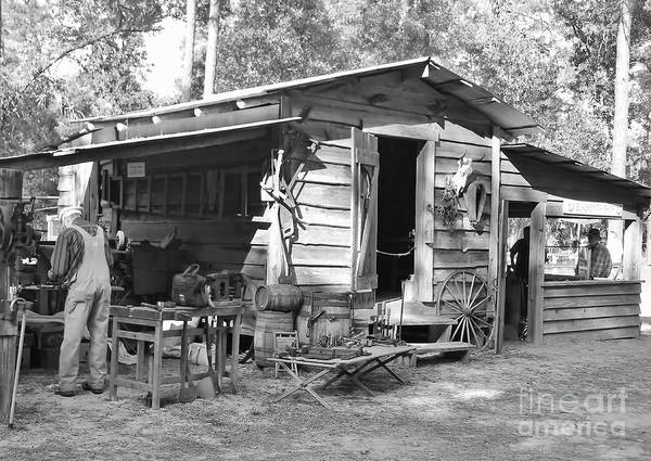 Photograph - Blacksmith And Tool Shed by D Hackett
