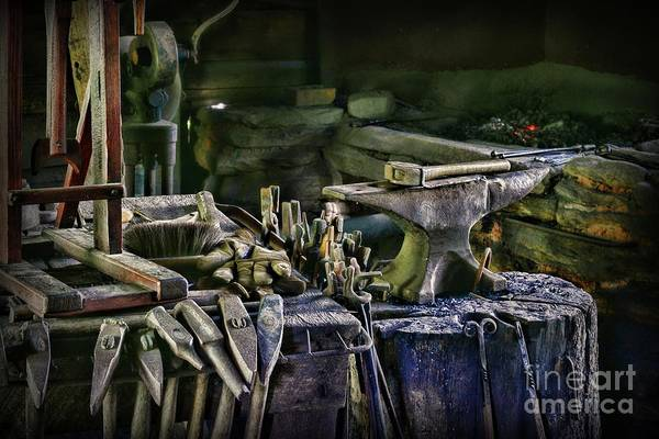 Wall Art - Photograph - Blacksmith - This Is My Anvil by Paul Ward
