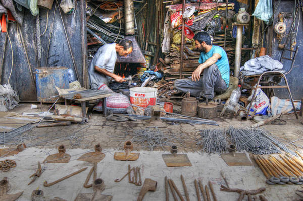 Photograph - Blacksmiths In Marrakech by David Birchall