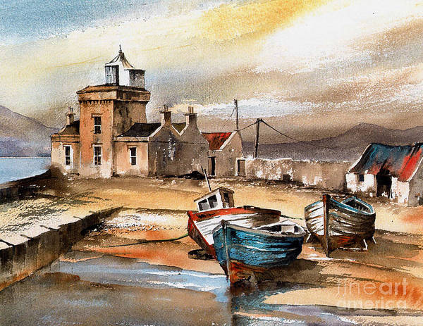 Painting - Blacksod Lighthouse, Mayo by Val Byrne