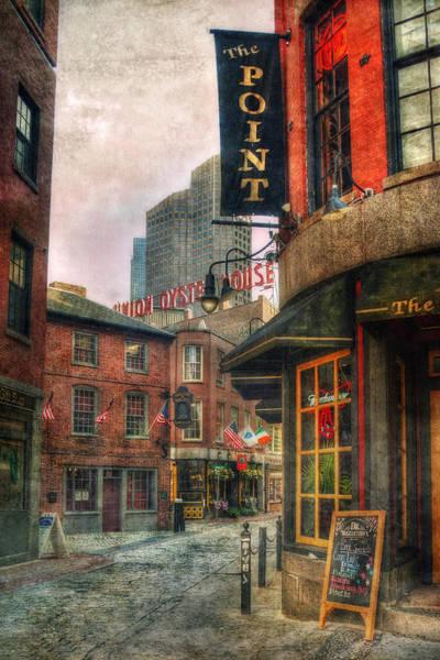 Boston North End Wall Art - Photograph - Blackstone Square - Union Oyster House - Boston by Joann Vitali