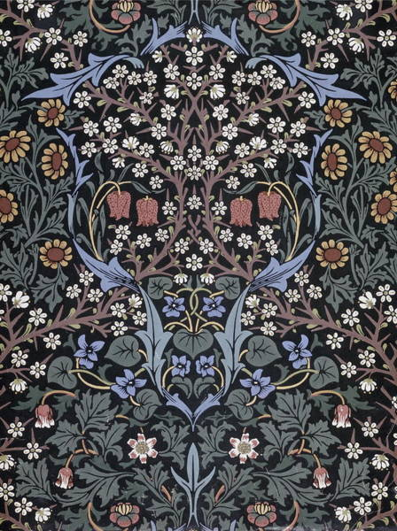 Wall Art - Painting - Blackthorn Wallpaper by William Morris