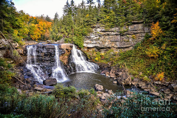 Photograph - Blackwater Falls In Autumn3836c by Cynthia Staley
