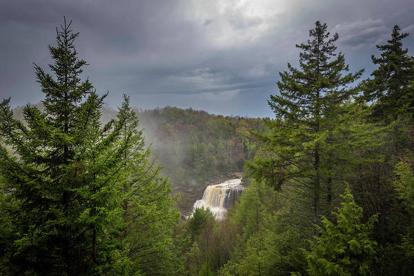 Blackwater Falls In Spring Art Print by Michael Donahue