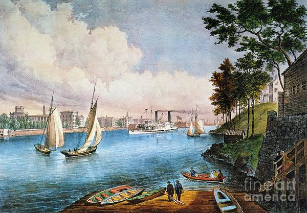Painting - Blackwells Island, 1862 by Granger