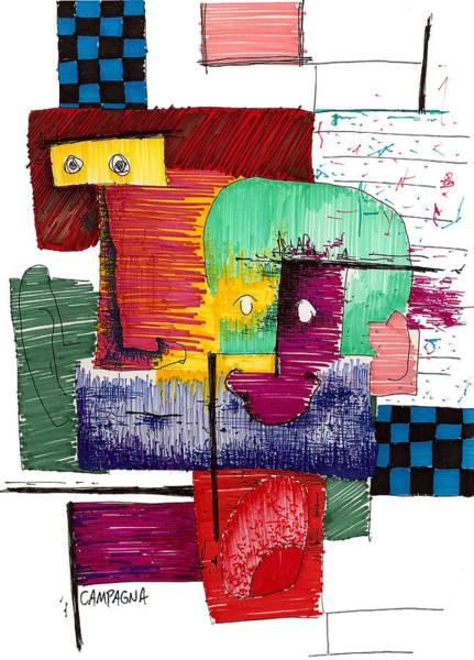 Sharpie Wall Art - Drawing - Blah Blah Blah. . . by Teddy Campagna