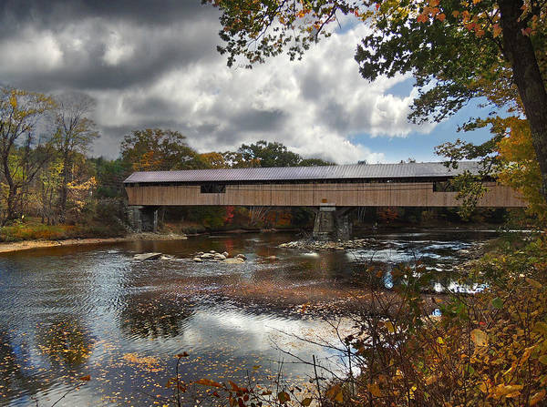 Photograph - Blair Covered Bridge by Nancy Griswold