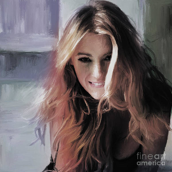 Wall Art - Painting - Blake Lively 01 by Gull G