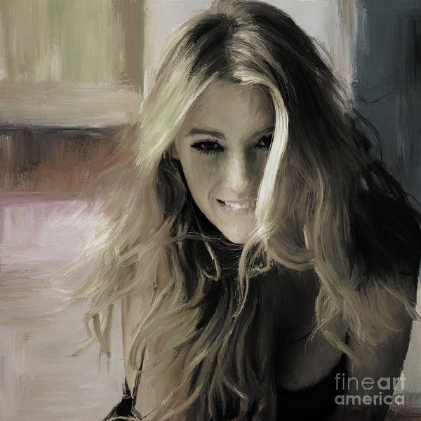 Wall Art - Painting - Blake Lively 03 by Gull G