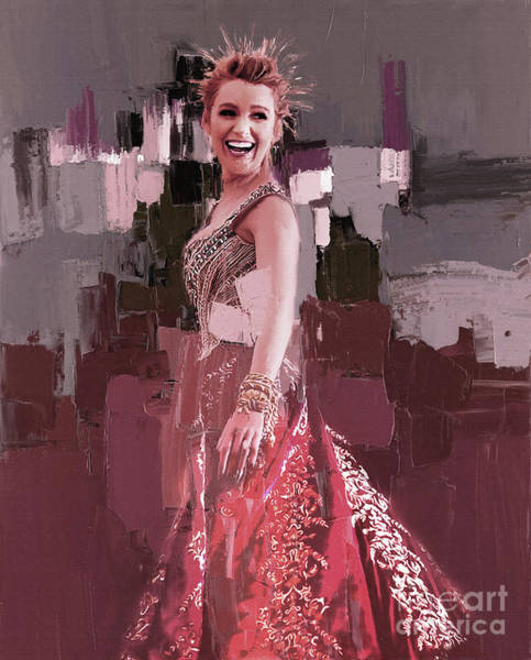 Wall Art - Painting - Blake Lively 34p by Gull G