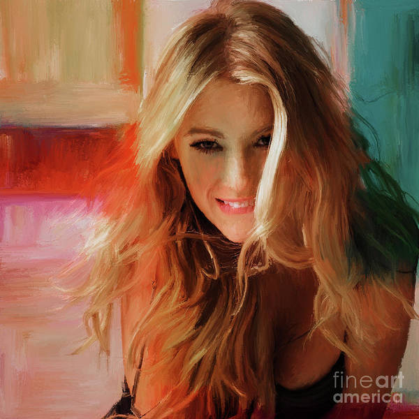 Wall Art - Painting - Blake Lively  by Gull G