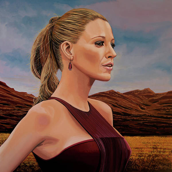 Wall Art - Painting - Blake Lively Painting by Paul Meijering