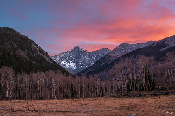 Fourteener Photograph - Blanca And Ellingwood Sunset by Aaron Spong