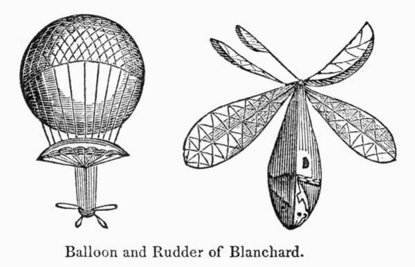Photograph - Blanchards Balloon by Granger