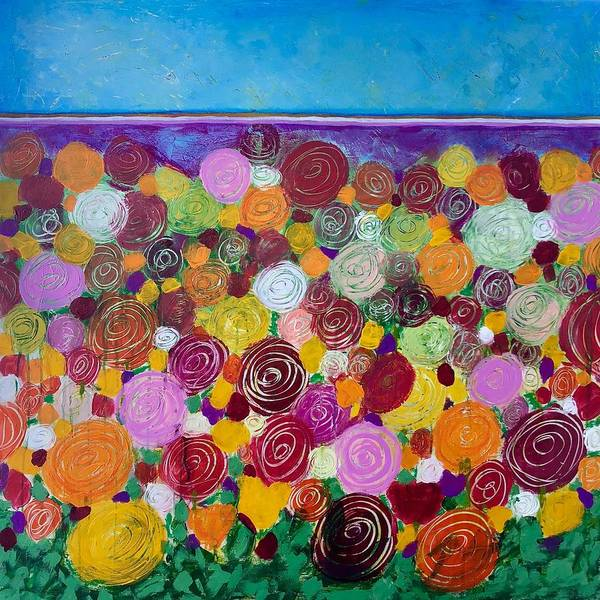 Painting - Blanket Of Blooms by Monica Martin