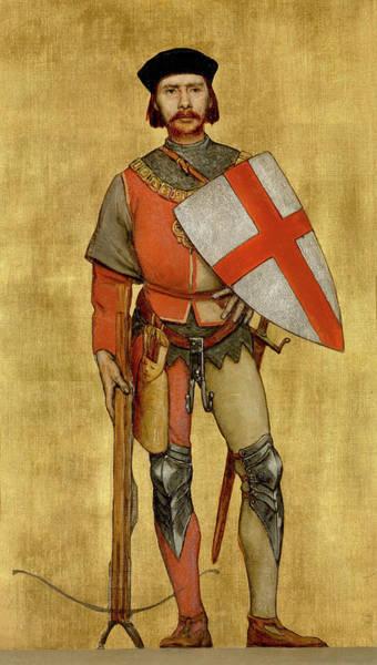 King George Wall Art - Painting - Blanket Of The Armed Saint George Guild by Albert De Vriendt
