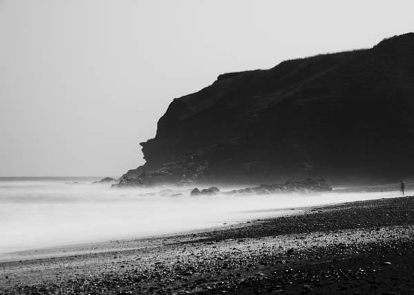 Blast Wave Wall Art - Photograph - Blast Beach Monochrome by David Taylor