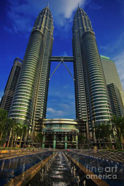 Photograph - Blast Off At The Petronas Twin Towers, Kuala Lumpur, Malaysia by Sam Antonio Photography