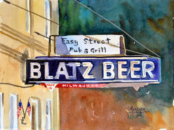 Neon Sign Painting - Blatz Beer Sign by Spencer Meagher