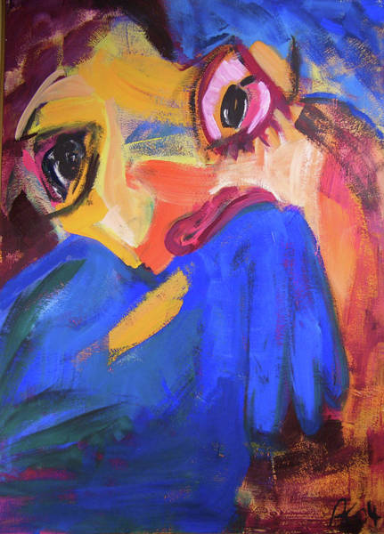 Painting - Blaue Figur by Annette Kunow