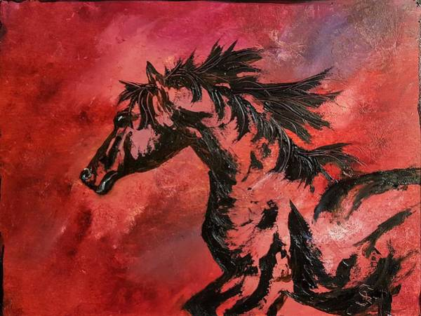 Painting - Blaze          2.1.21.2018 by Cheryl Nancy Ann Gordon