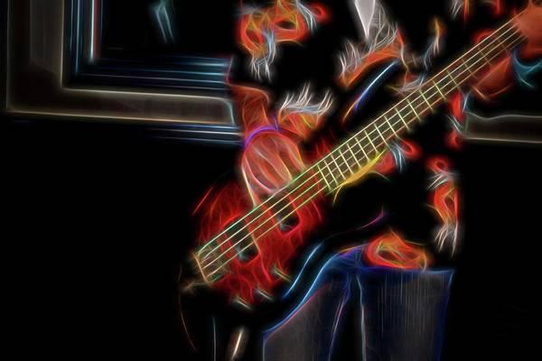 Photograph - Blazing Guitar by Kathy McCabe