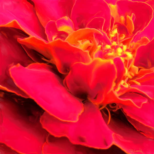 Digital Art - Blazing Pink Marigold by Sand And Chi
