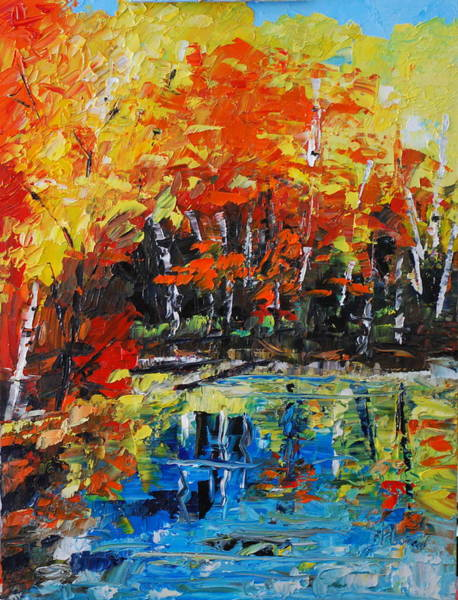 Painting - Blazing Reflections by Phil Burton